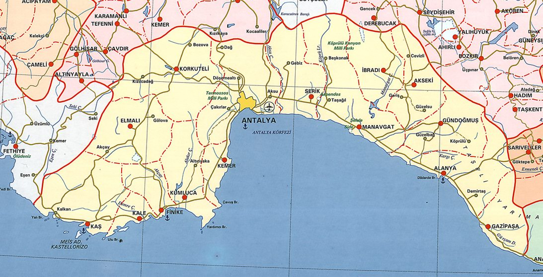 Image result for manavgat haritası