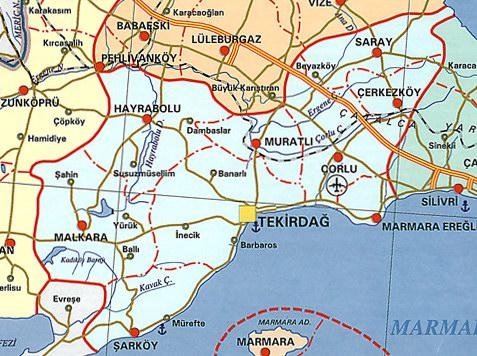 Image result for tekirdağ şarköy haritası